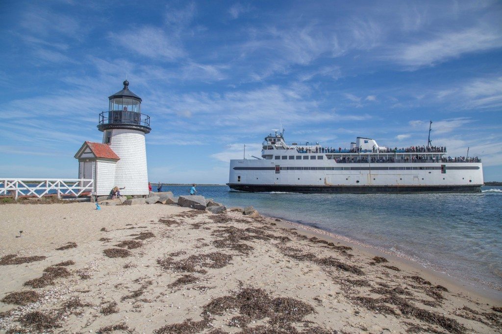 Nantucket Car Ferry and Lighthouse